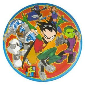 "Teen Titan 8""inch Melamine Child Plate 🤩 5/$15 🤩"